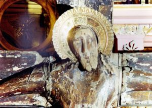 Лик Христа перед до реставрации
