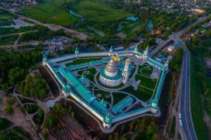 Панорама монастыря с воздуха