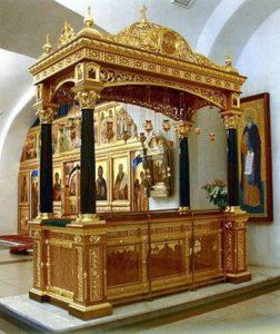 Рака с мощами святого Тихона Калужского