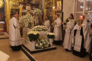 Святые мощи в Богоявленском соборе
