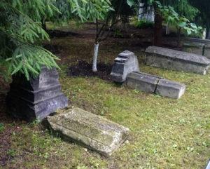 Надгробия кладбища